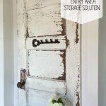 Antique Door Entry Storage Solution