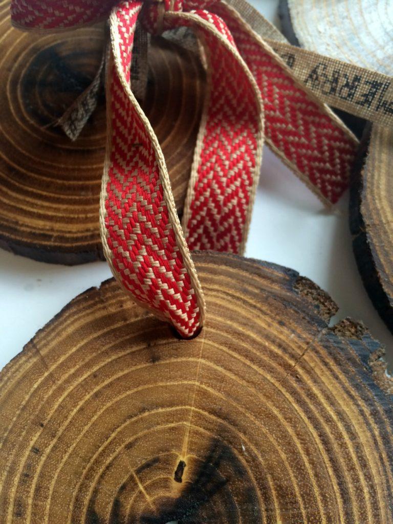 Rustic Wood Christmas Ornaments