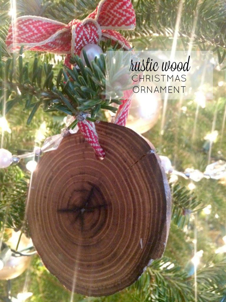 Rustic Wood Christmas Ornament