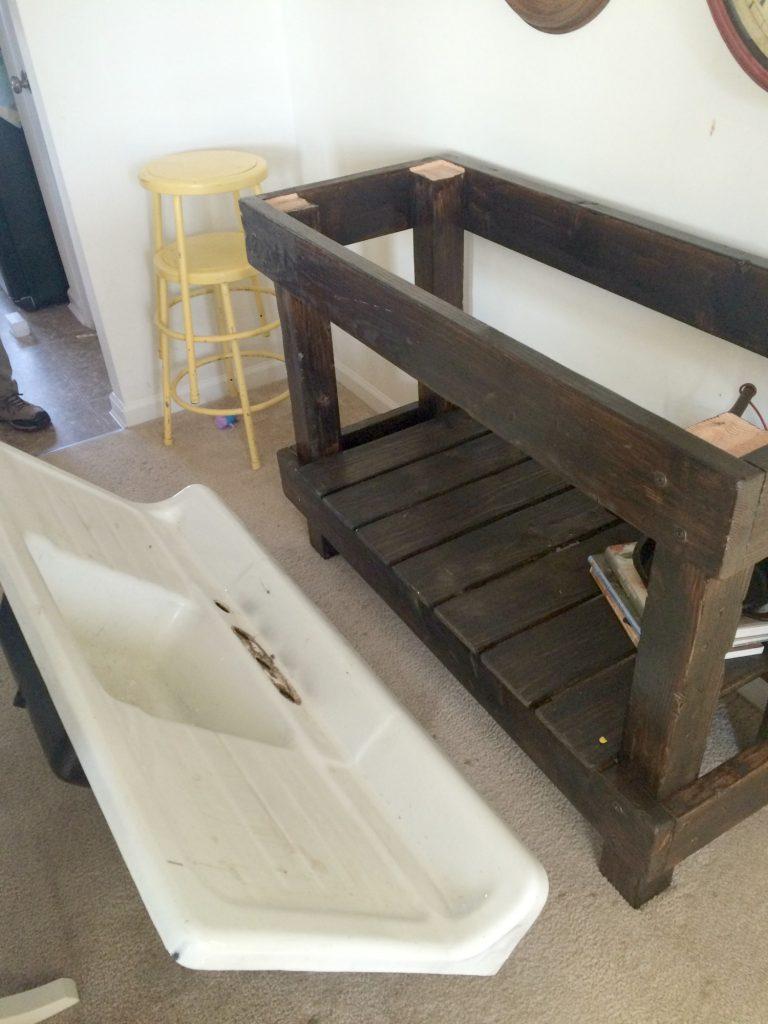Antique Cast Iron Sink