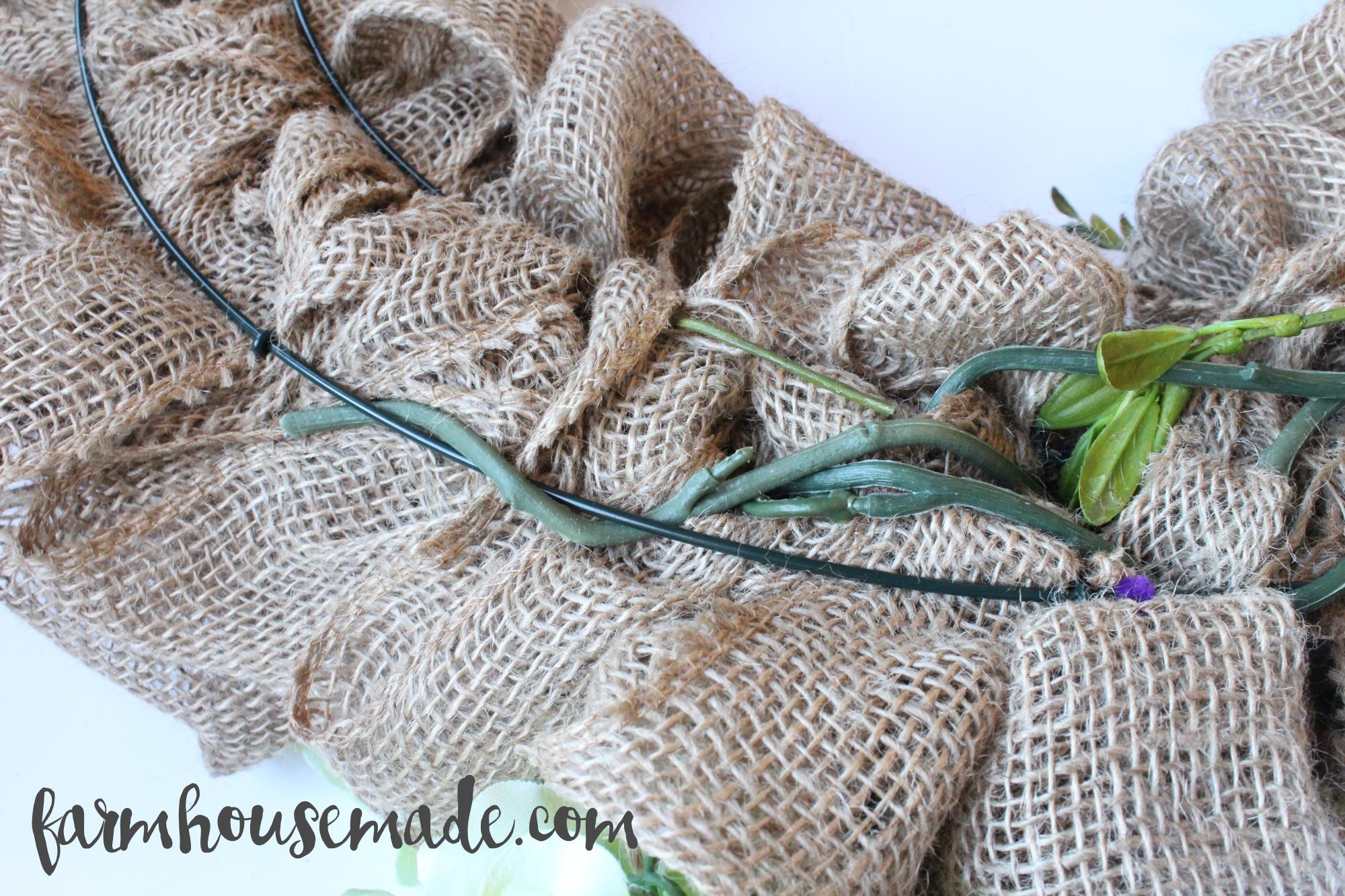 How To Make A Burlap Wreath Farmhouse Made