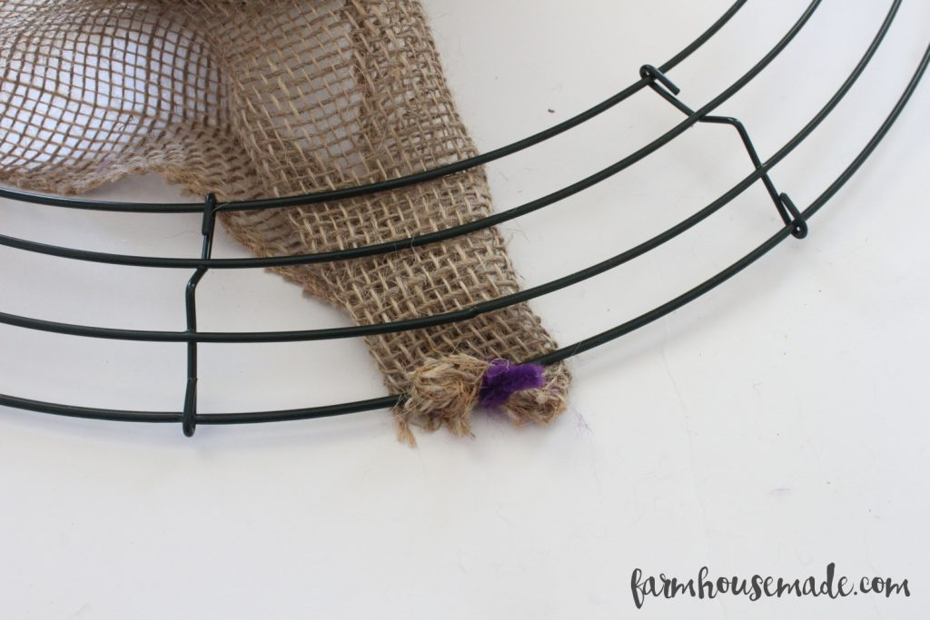 If you don't know how to make a burlap wreath, check it out!