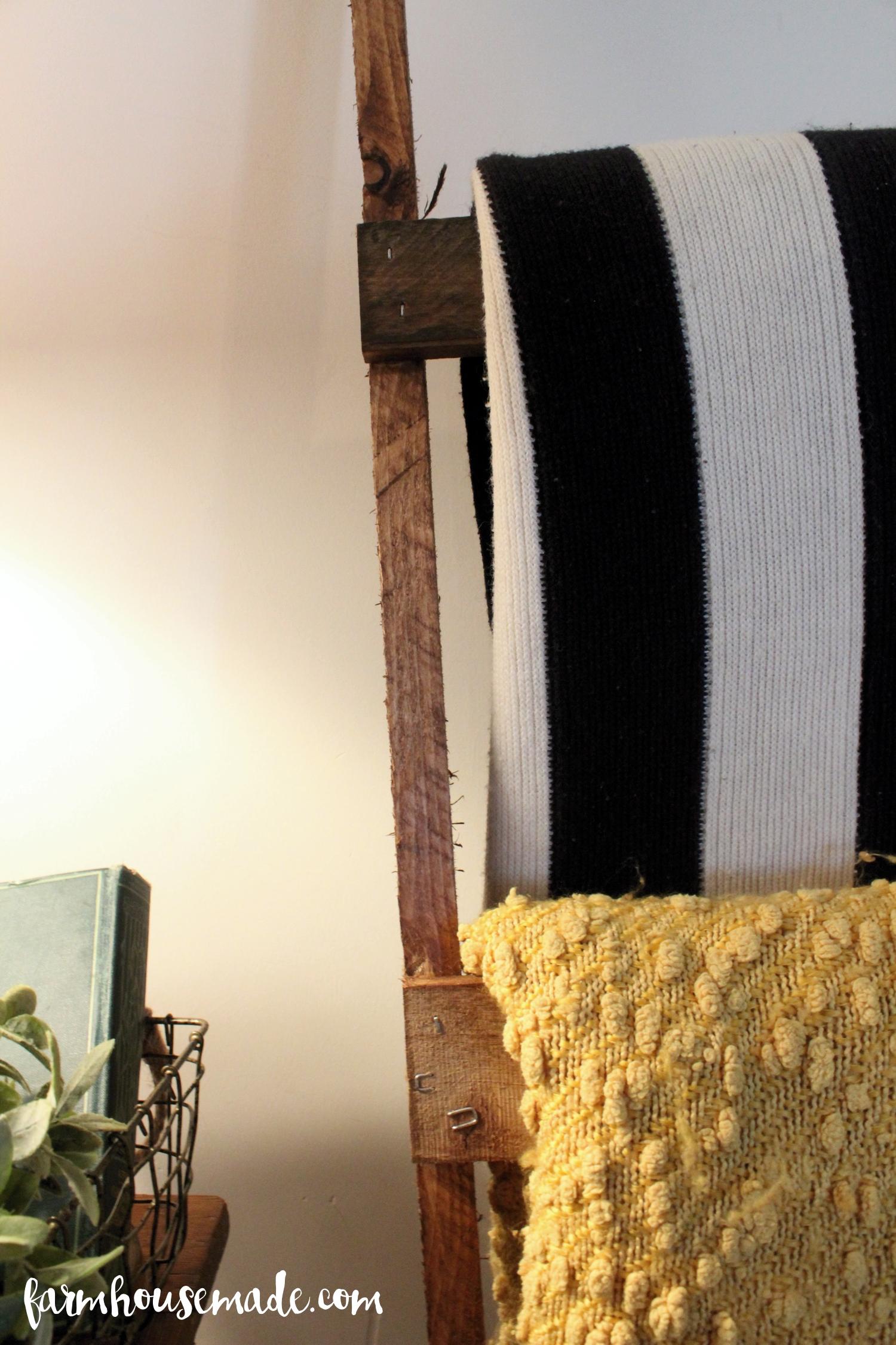 Easy Pallet Blanket Ladder Farmhouse Made
