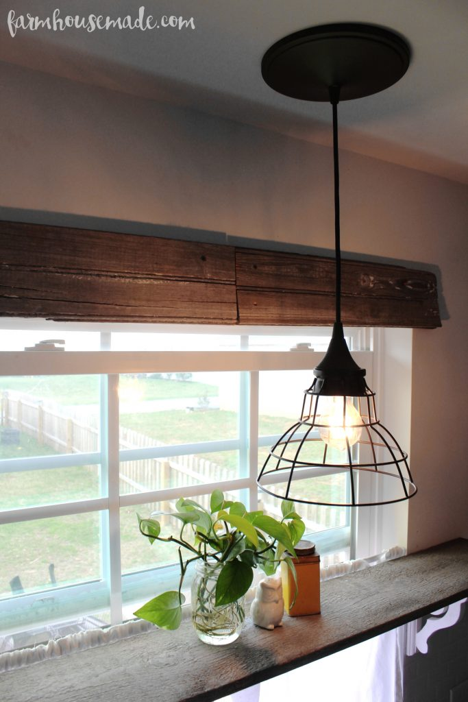 Rustic Kitchen Pendant Light - The perfect 5 minute update!