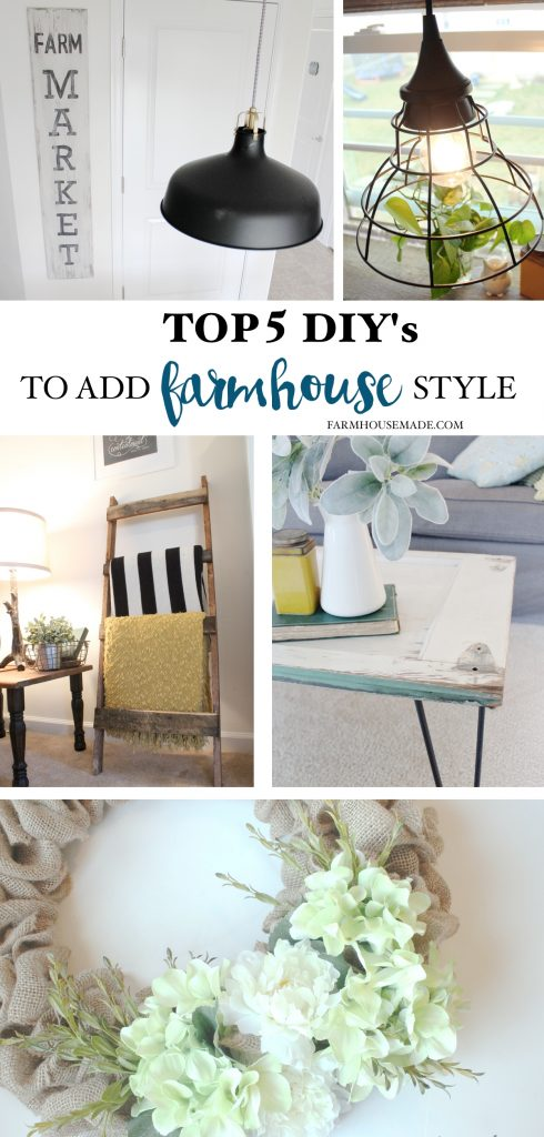 I need these! Top 5 DIY's To Add Farmhouse Style To Your Home