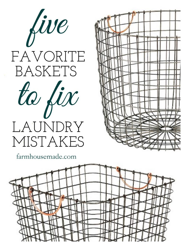 Check out these 5 favorite baskets that are going to fix all my laundry mistakes!!