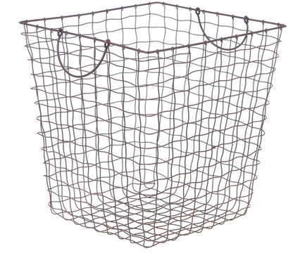 This is the perfect metal basket for the laundry room on laundry day!