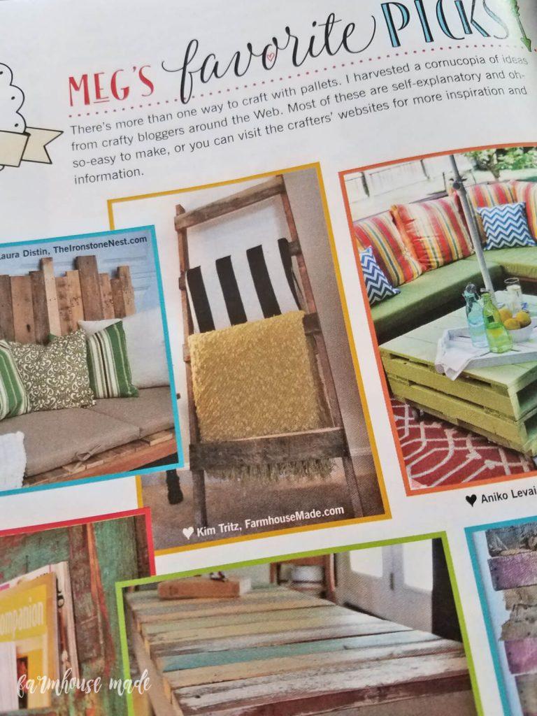 My DIY Blanket Ladder in Farmgirl DIY magazine! AHHH!