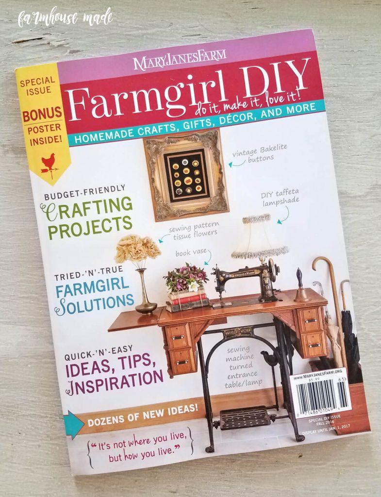 My DIY Blanket Ladder in Farmgirl DIY magazine!