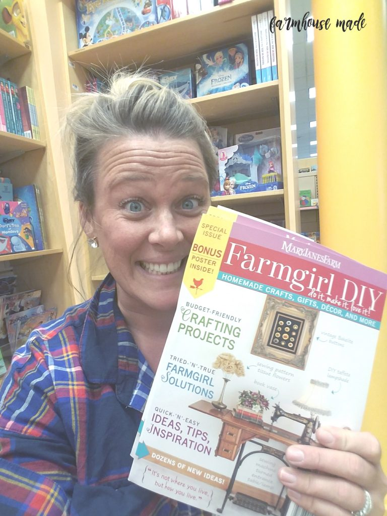 Freaking out in the kids' treehouse at BN over my DIY Blanket Ladder in this magazine!