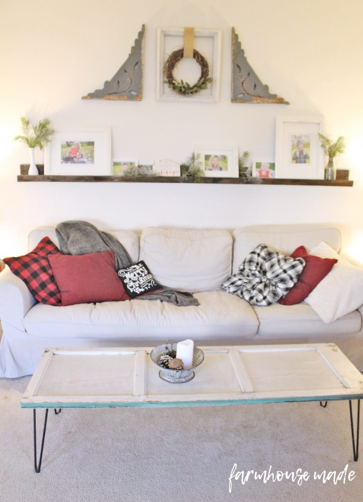 This is such a beautiful and simple farmhouse christmas decor tour! I love all the simple touches, especially these pillows!