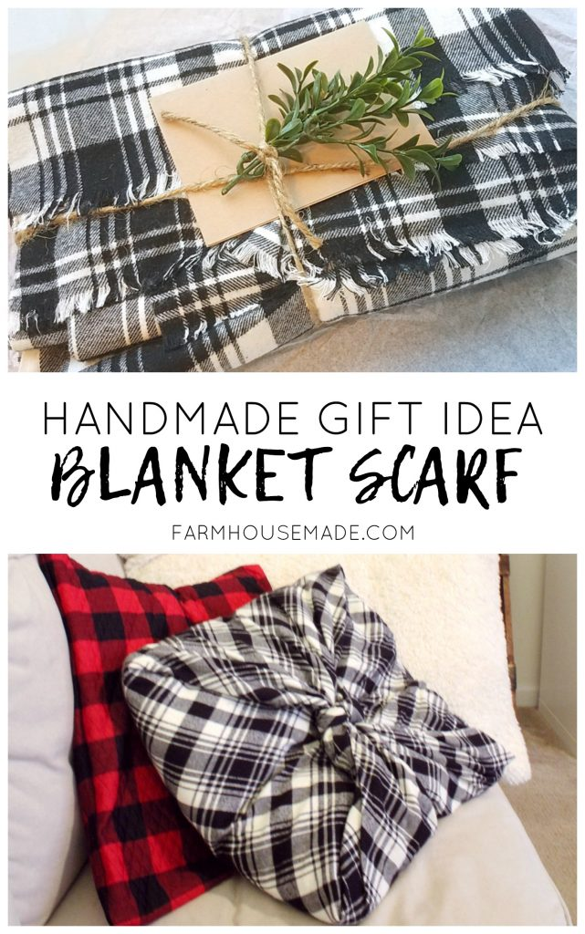 No kidding, this blanket scarf DIY is so easy and makes THE perfect gift. Gotta make this for SURE!