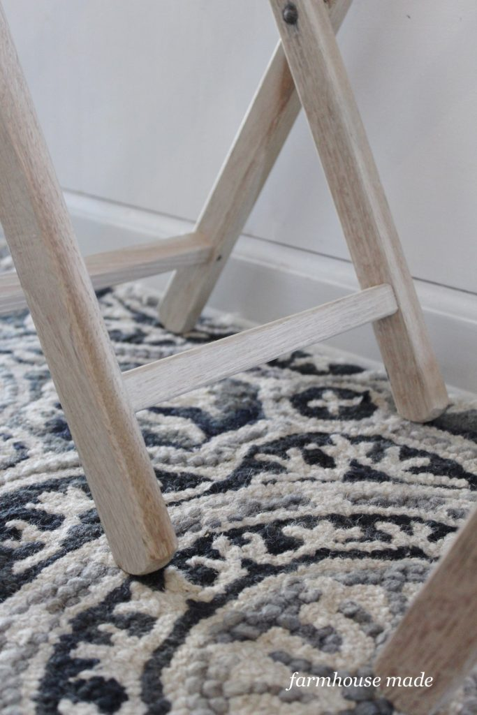 This white wood is so gorgeous - it's a thrift store makeover with bleach!!