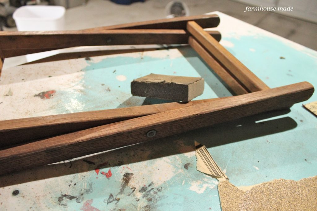 This wood is so gorgeous now - it's a thrift store makeover with bleach!!