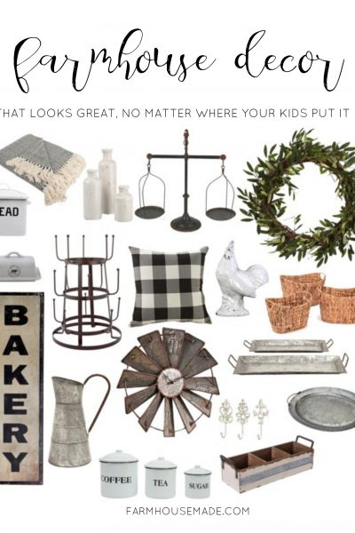 Rustic home decor that looks great, no matter where your kids relocate all your stuff! So cohesive, and farmhouse fabulous!