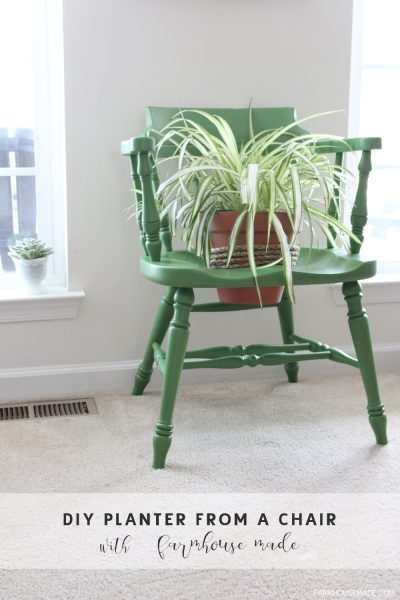 A DIY Planter from a salvage chair is an amazing way to add color to your porch, deck or garden this spring! DIY | Spring Decor | Garden DIY | Outdoor
