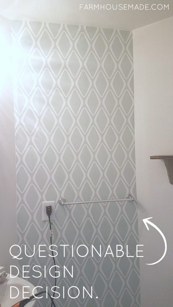Can I take this before, and turn it into the inspiration for my farmhouse powder room makeover? It's so gorgeous; and so over budget! Can I get the look for less while staying in the $100 budget?