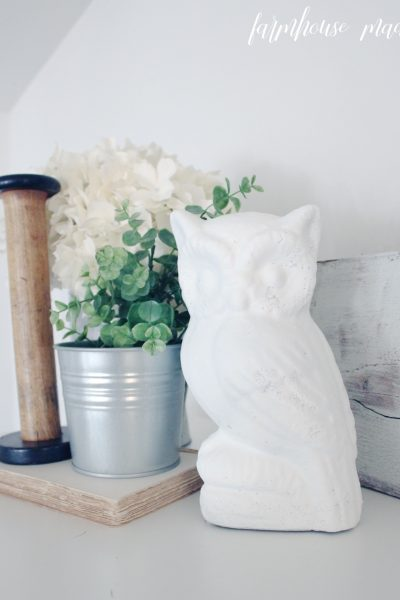 So you have unloved tchotchkes? ME TOO. If you don't love your cast-offs, you can spray paint them! | Spray Paint Thrift Finds | Chalky Finish Spray Paint | Farmhouse Made