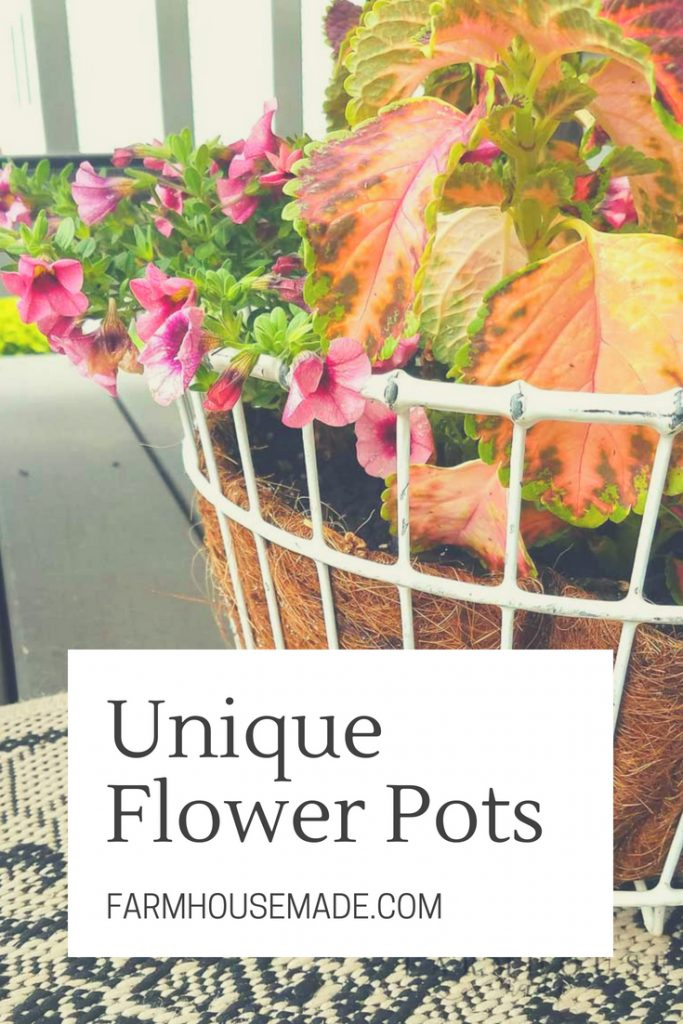 Flowers wanted, dead or alive, in a unique flower pot. Use interesting and found containers to fill in for those overpriced planters, to get some unique flower pot interest for your porch, garden, deck, or indoors!