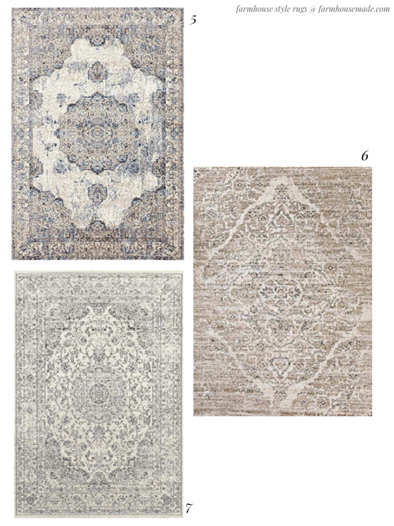 farmhouse style area rugs on amazon