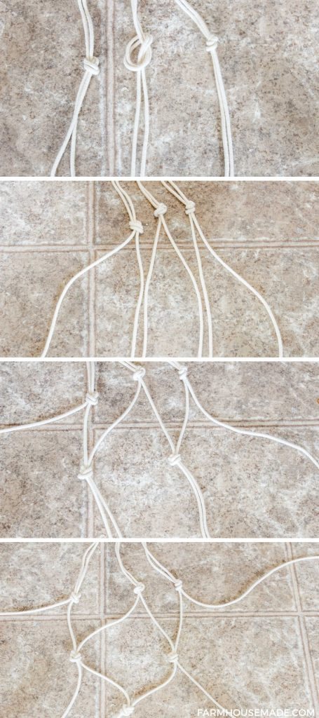 How to knot macrame plant hanger