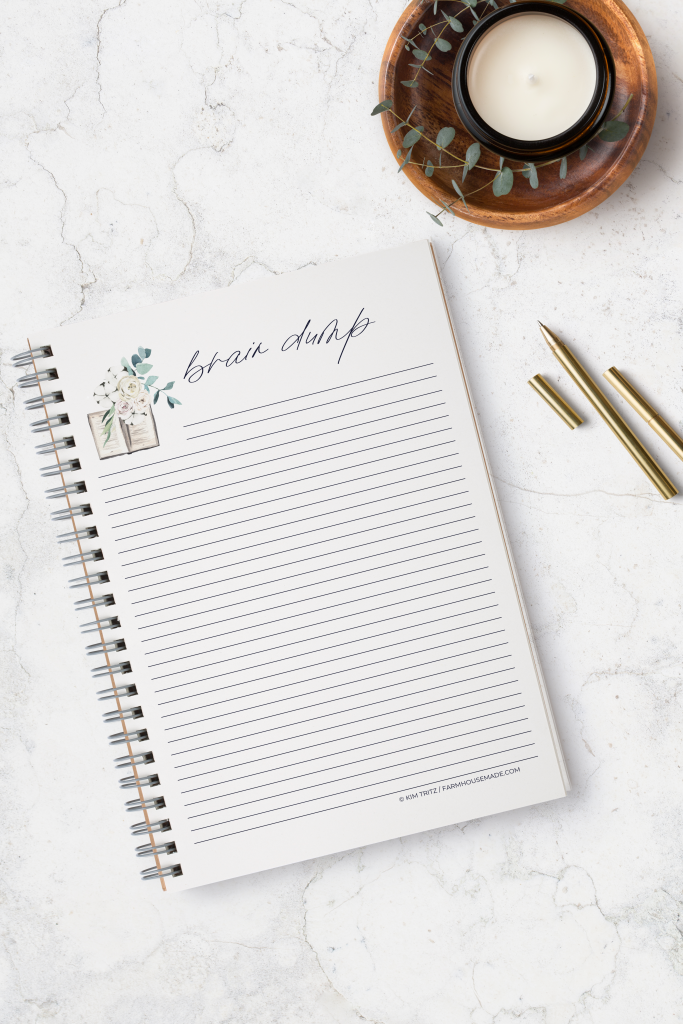 A brain dump is an easy and sustainable way to regain focus and clarity by clearing your mind of all the tidbits you've got floating in your brain. Let's go learn how! #braindump #anxiety
